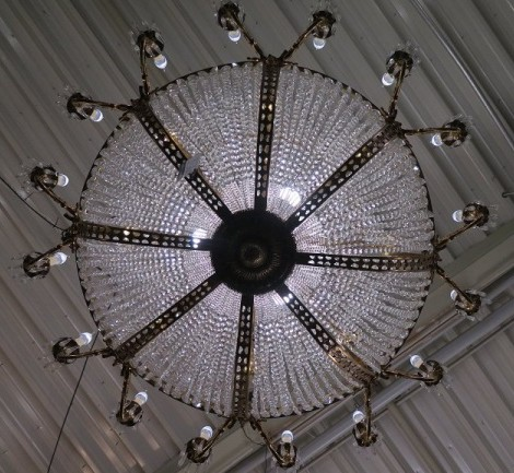 Large antique chandelier