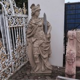 Antique garden warrior sculpture