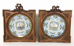 Antique twin plates