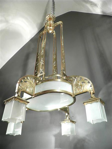 Antique chandelier.