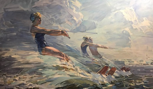 "Painting ""Running on the Waves"""