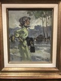 "Antique painting ""Elegant"""