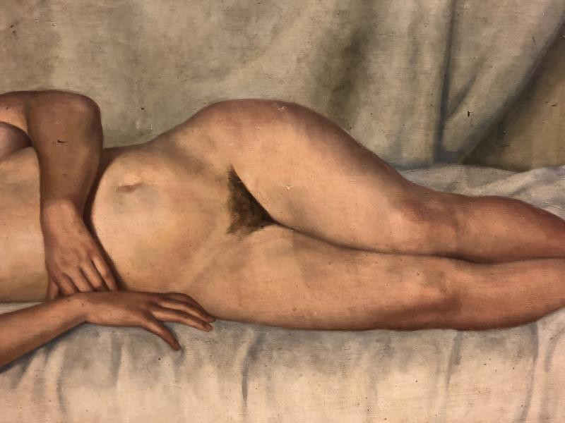 "Antique painting ""Naked"""