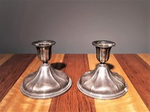 Pair of antique candle holders