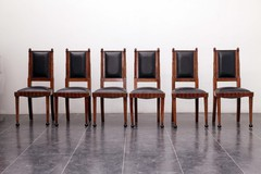 Set of 6 chairs by Meroni & Fossati