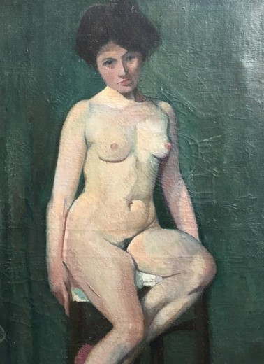 "Antique painting ""Nude Model"""