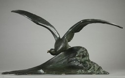 "Antique sculpture ""Flight of the seagull"""