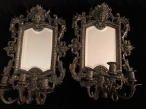 Antique pair mirrors