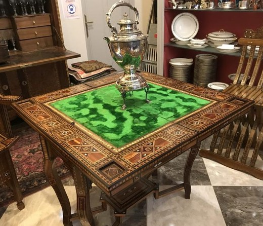 Antique gaming table