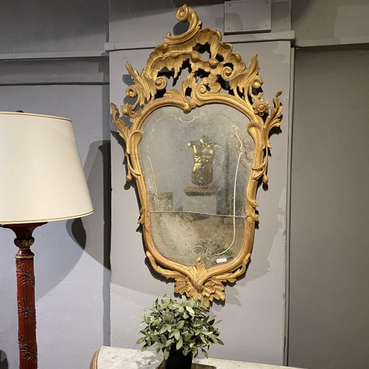 Twin mirrors in rococo style