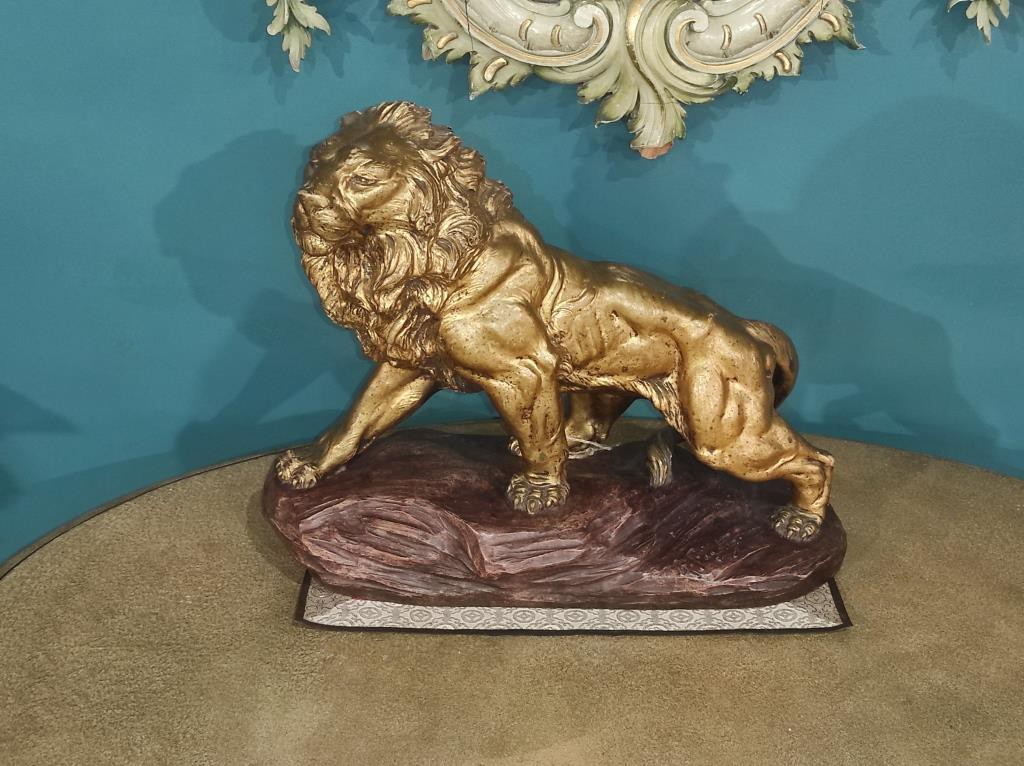 "Terracotta sculpture ""Lion"""
