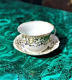 Antique saucer with   bowl