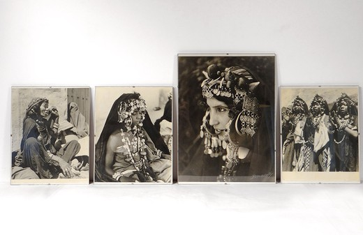 "A set of four photo panels ""Judea of Morocco"""
