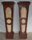 Antique twin pedestals