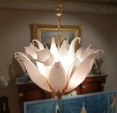 Vintage chandelier of Murano glass