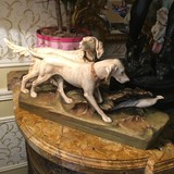 Antique statuette of hunting dogs