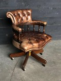 Antique office leather armchair