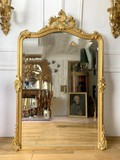 Antique fireplace mirror Louis XV