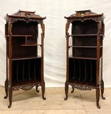 Antique pair etageres Gabrielle Viardot