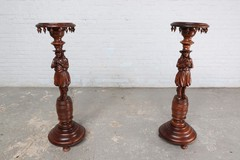 Antique pair Brittany stands