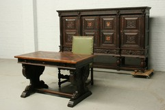 Antique renaissance office set