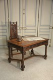 Antique desk and armchair