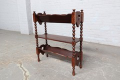 Antique shelving for newspapers and magazines