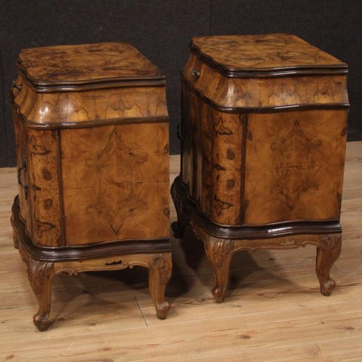 Pair antique bedside tables