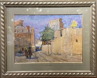 "Antique painting ""On the streets of Khiva"""