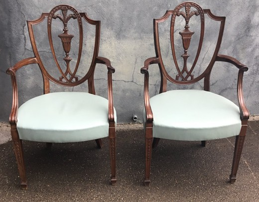 Antique pair armchairs