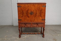 Antique Jacobean style bar cabinet