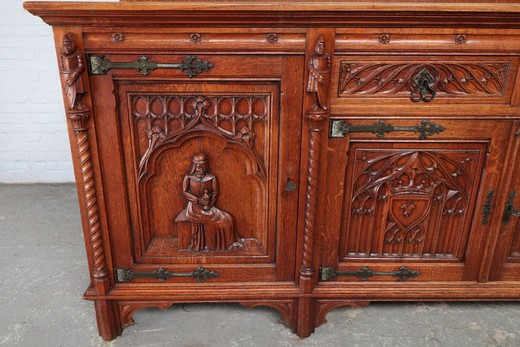 Antique Gothic style sideboard