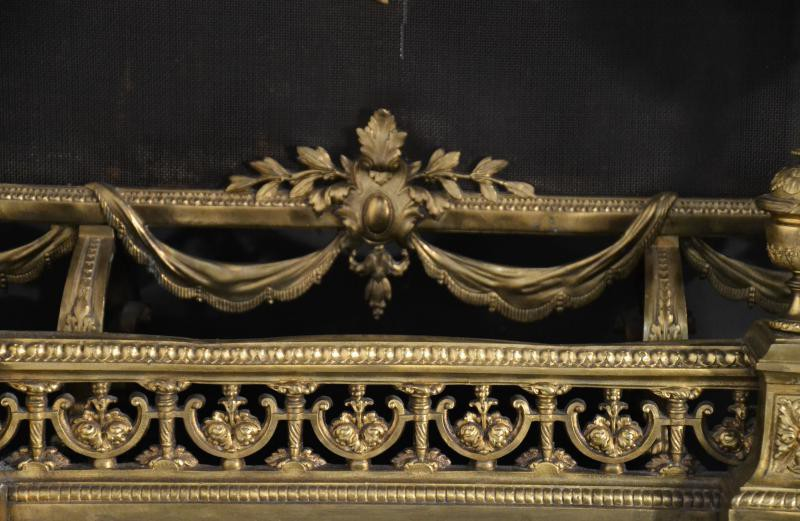 Antique fireplace set