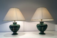 Pair of Deco style ceramic lamps. Circa 1970