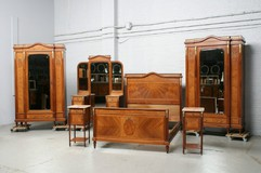 Bedroom set Louis XVI Belgium Walnut 1900