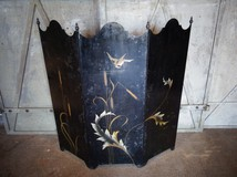 antique metal room divider