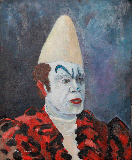 "Painting ""White clown"""