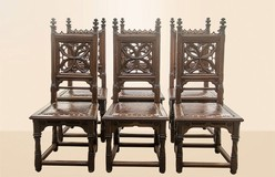 gothic chairs set