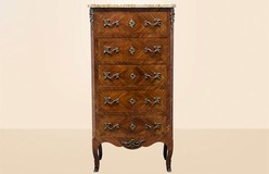 old walnut commode