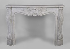 Louis XV carrara marble fireplace