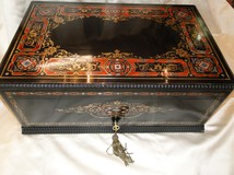 antique boulle maruetry safe box