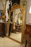 antique louis XVI style gilded mirror