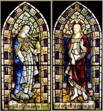 Jesus Christ and Mary Magdalene stained glass