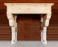 Exclusive antique sandstone castle fireplace