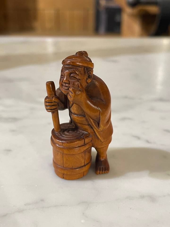 "Antique netsuke ""Craftsman"""
