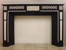 antique inlaid fireplace louis XVI