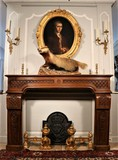 antique fireplace Louis XIV