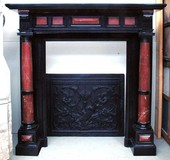 antique fireplace Napoleon III