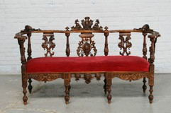 Antique renaissance bench