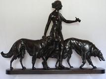 Antique bronze sculpture